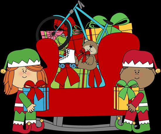 clip art freeuse Santa Claus Sleigh Clipart at GetDrawings
