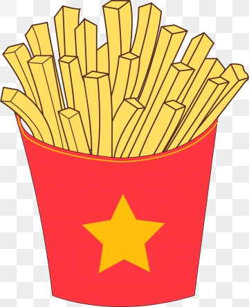 clipart library library Slice clipart fry. French fries png images