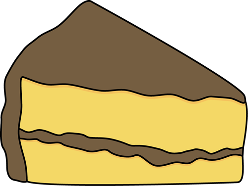 graphic black and white library Slice of clipart. Yellow cake .