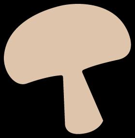 banner royalty free download Slice of clipart. Mushroom clip art image.