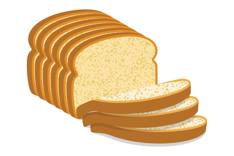 free White background illustration food. Sliced bread clipart