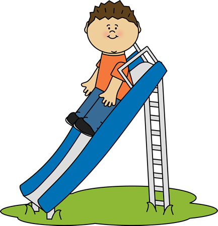 png freeuse Slide clipart. Kid playing on a.