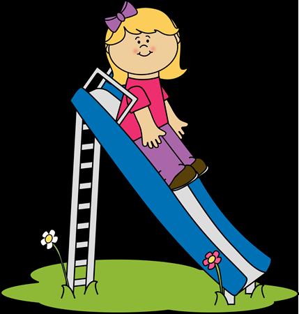 clip stock Girl on a Slide Clip Art