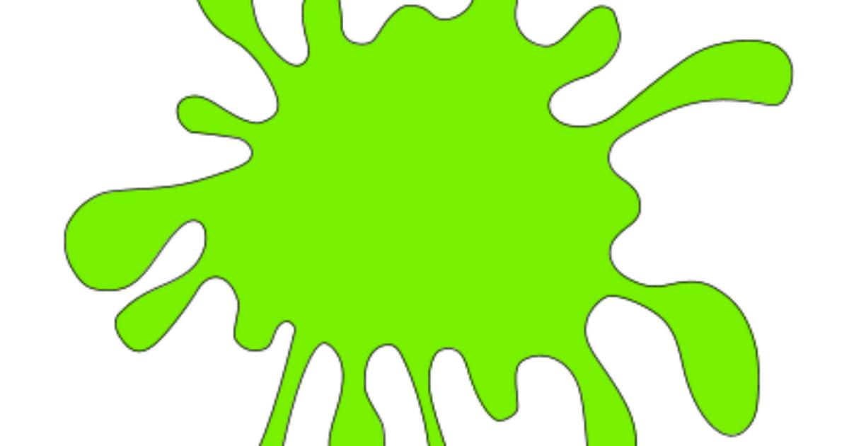 vector freeuse Water svg splat cartoon. Slime clipart green kids