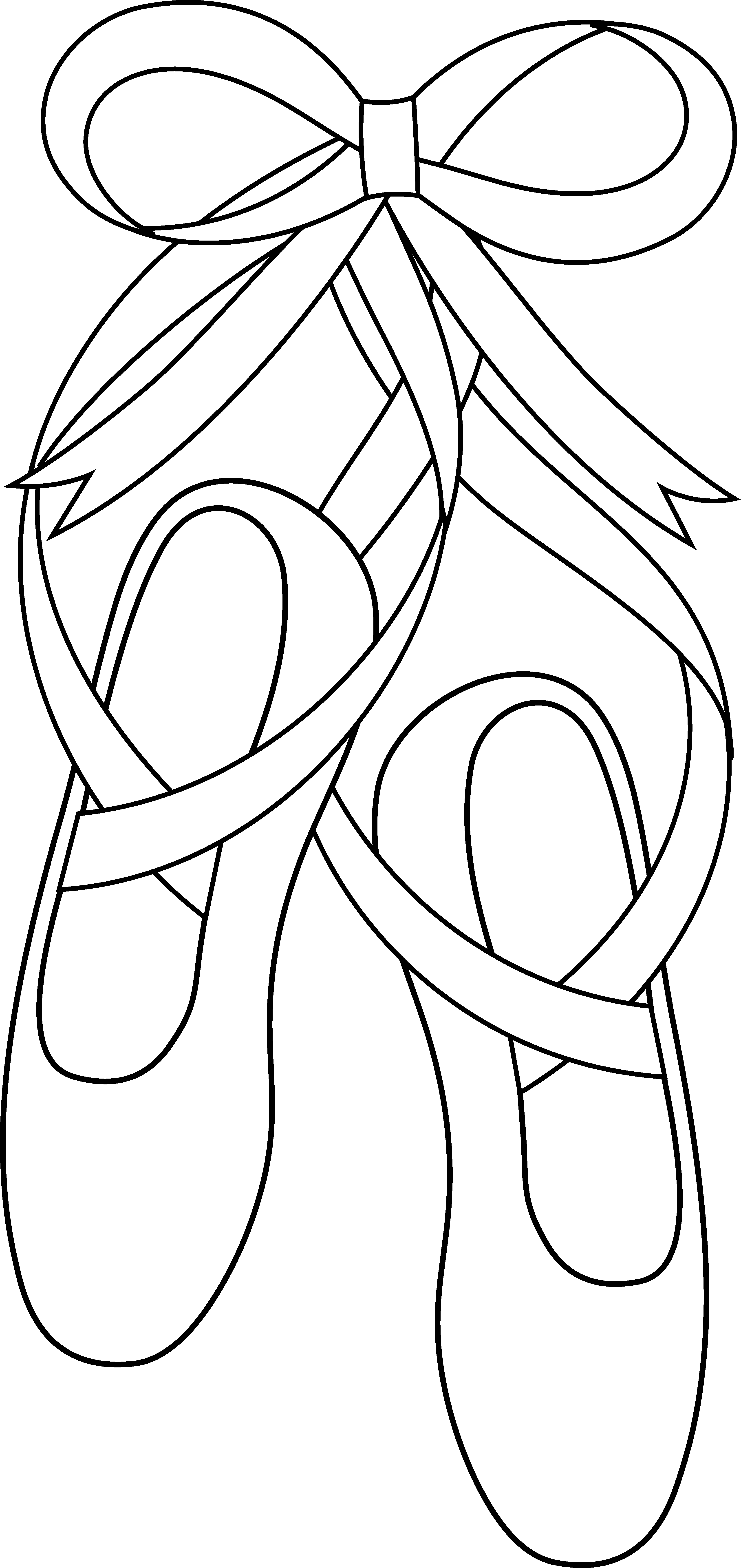svg free library Ballet Slippers Line Art