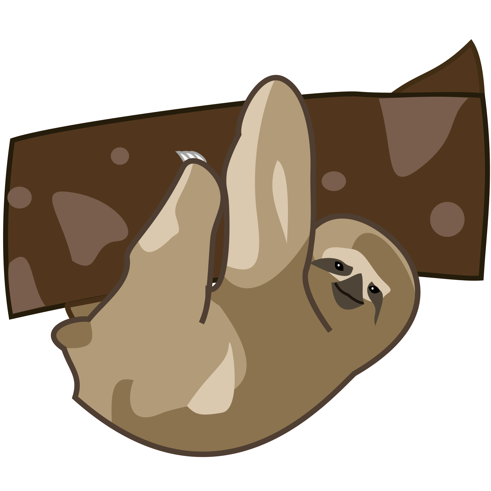 clip art library download Sloth clipart. File cartoon svg wikimedia.