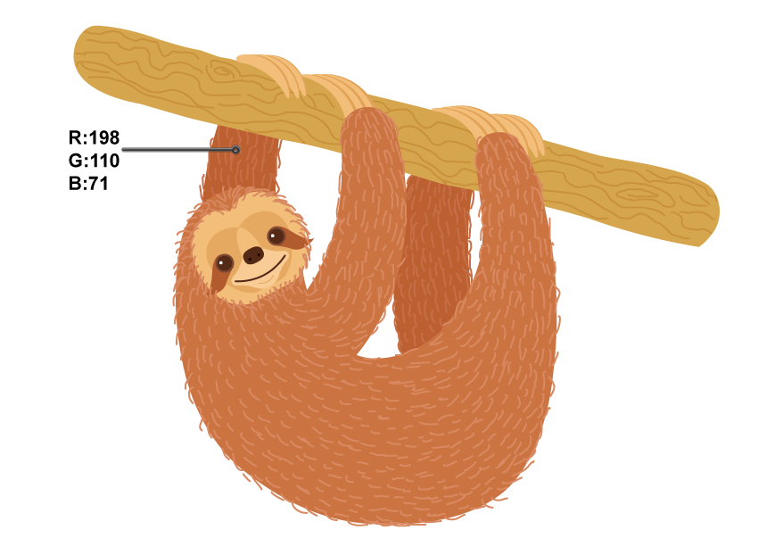 svg black and white download How to create a. Sloth clipart.
