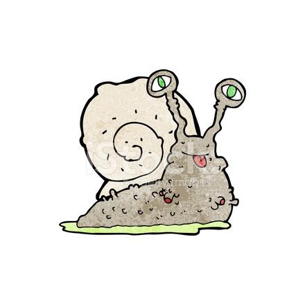 clipart black and white Cartoon Gross Slug Stock Vector
