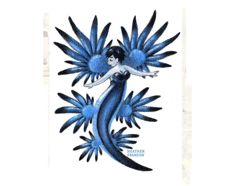 png library stock Blue Dragon Sea Slug Mermaid by Heather F