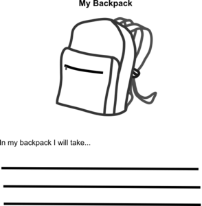 svg freeuse stock In my clip art. Bookbag clipart empty backpack