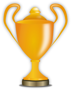png transparent library Golden clip art at. Trophy clipart football trophy