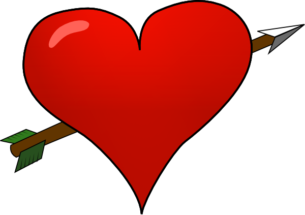 picture library library Heart arrow clip art. Valentine vector hearts