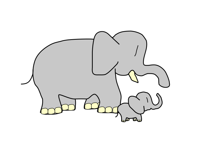 clip library library Free Elephant Clipart and Animations