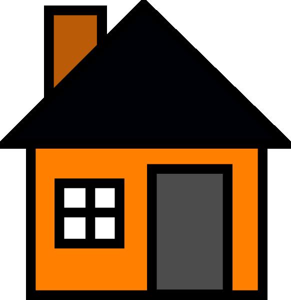 clipart Orange House Clip Art at Clker