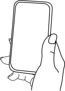 picture black and white library Collection of free Vector hand iphone