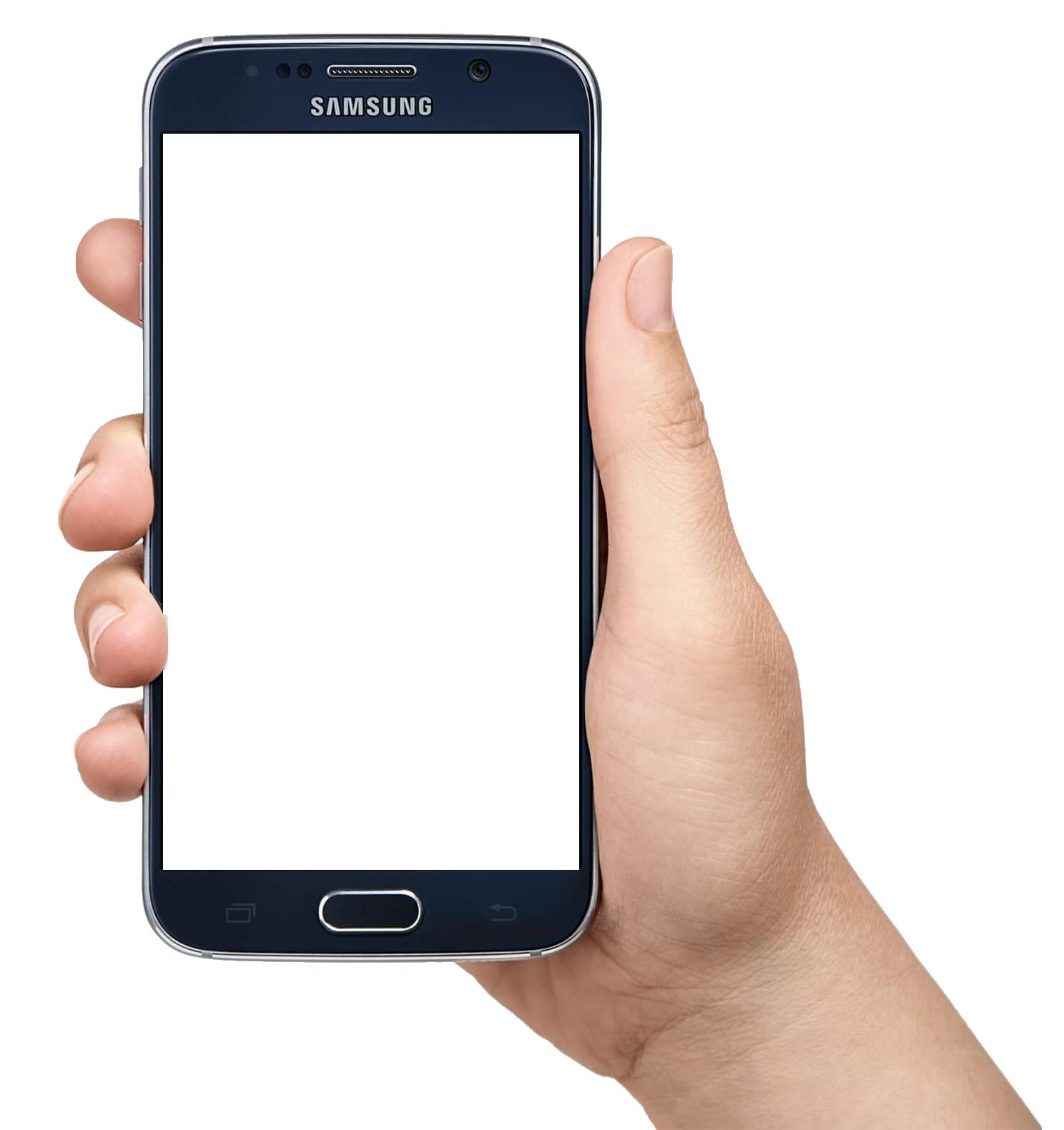 jpg freeuse Hand Holding Smartphone PNG Image