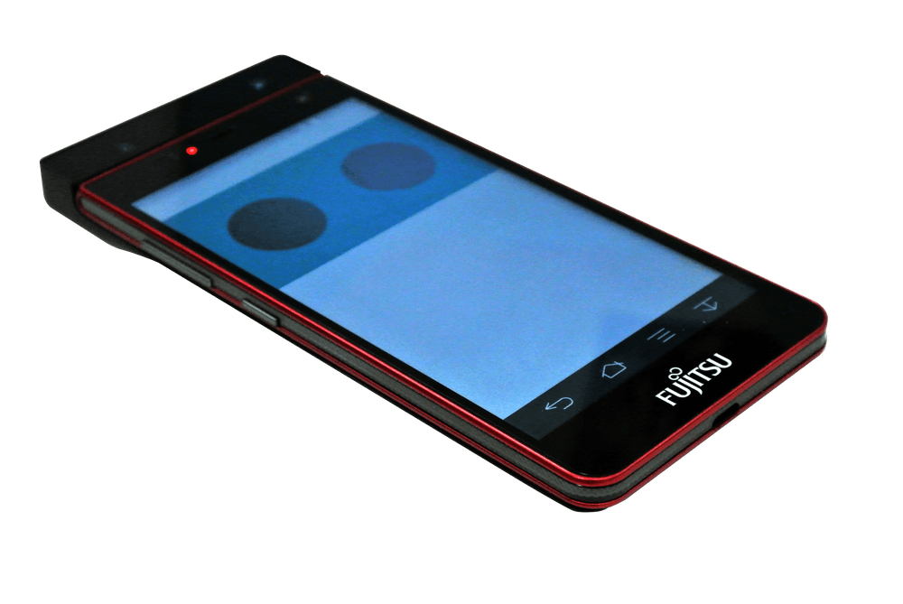 svg free download Prototype Fujitsu smartphone unlocks with the blink of an eye