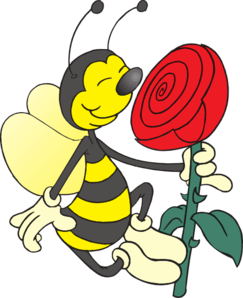 png transparent stock Smell clipart. Bee smelling flower clip.