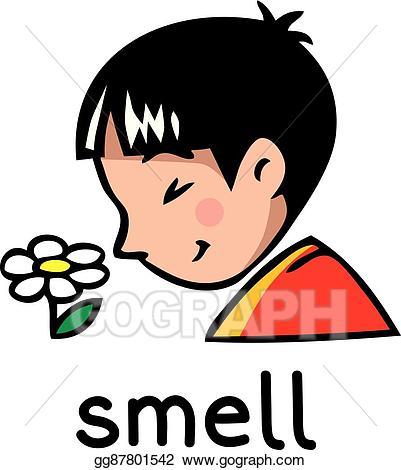 graphic freeuse Vector art sense icon. Smell clipart.
