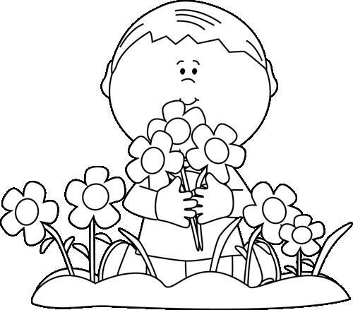 jpg black and white download Black and White Boy Picking Valentine