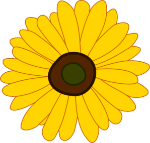 png Spring sunflower . Sunflowers clipart public domain