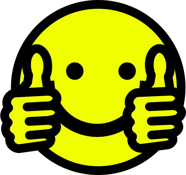 svg free library Thumbs clipart yellow. Clip art up smiley