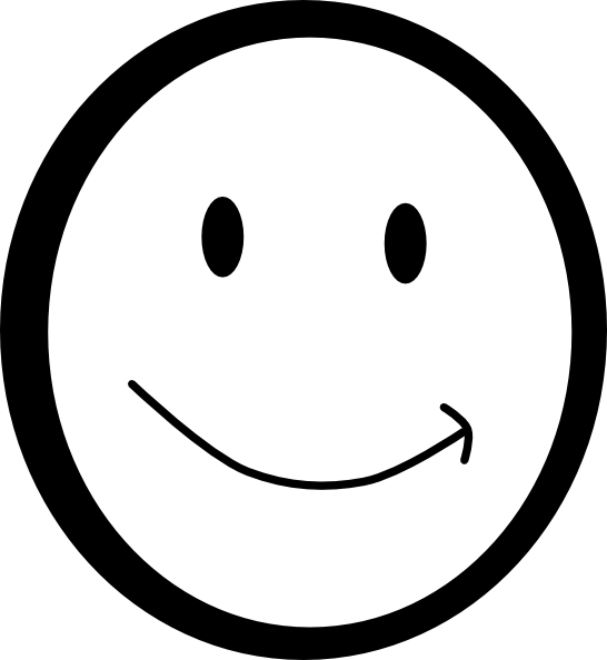 png Yes clipart happy face. Smiley black and white