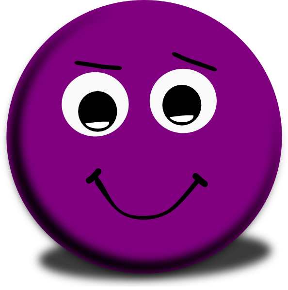 graphic freeuse Smiley vector minimalist. Purple winking face clip