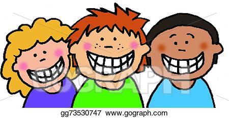 png freeuse Smiling clipart. Vector stock children illustration.