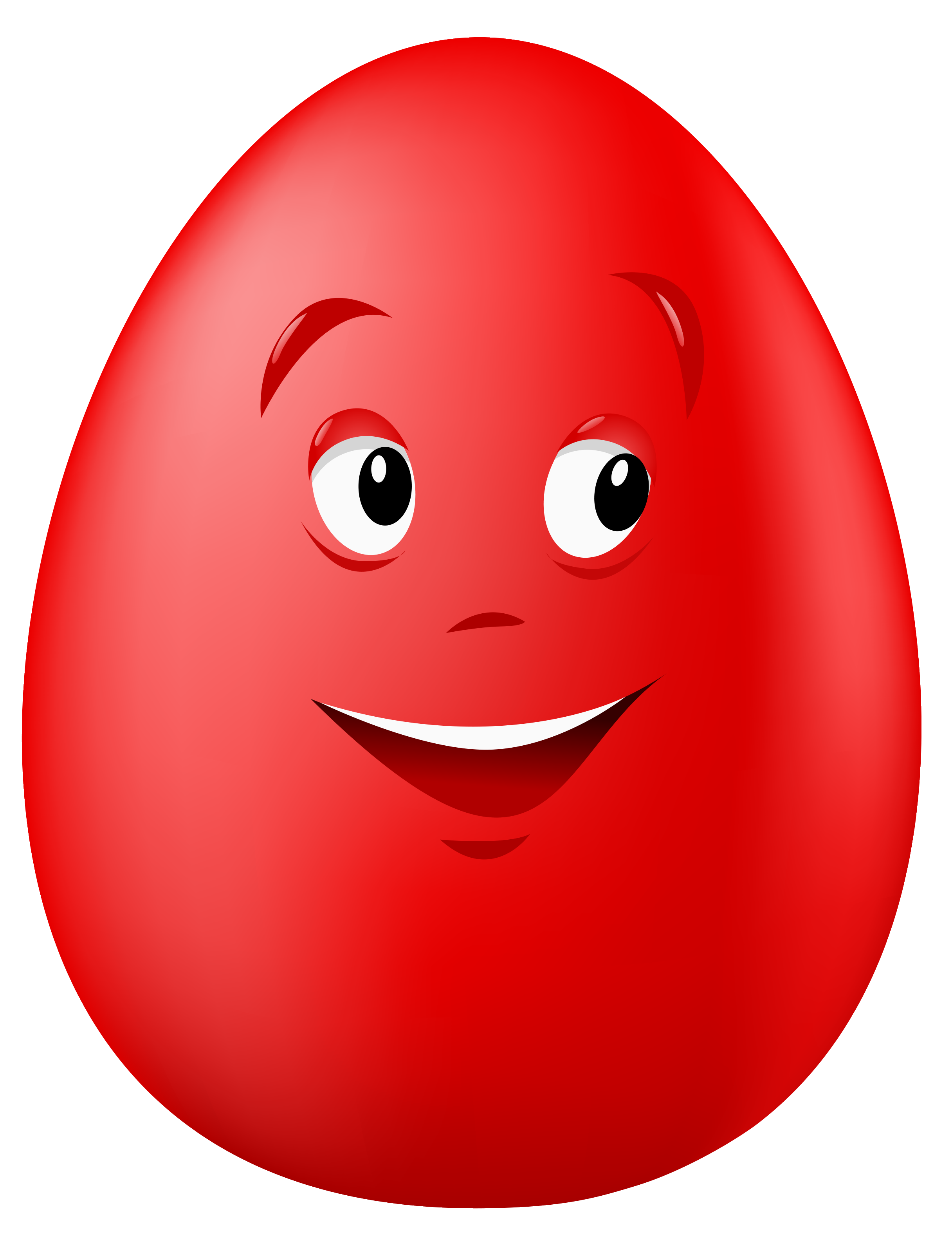 vector transparent stock Smiling clipart red. Transparent easter egg png