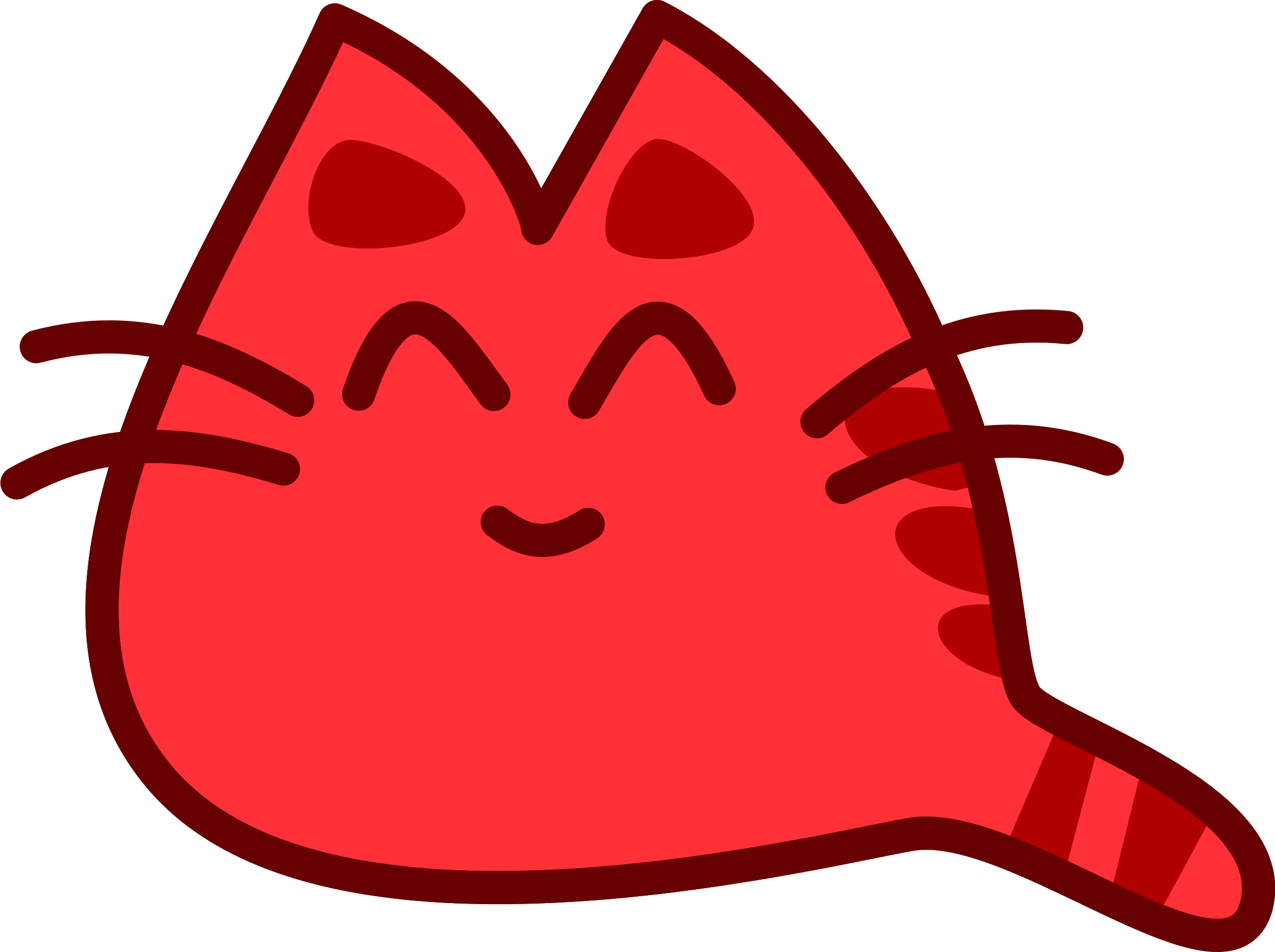 picture transparent Cat big image png. Smiling clipart red