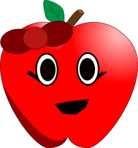 clip art free Apple clip art at. Smiling clipart red