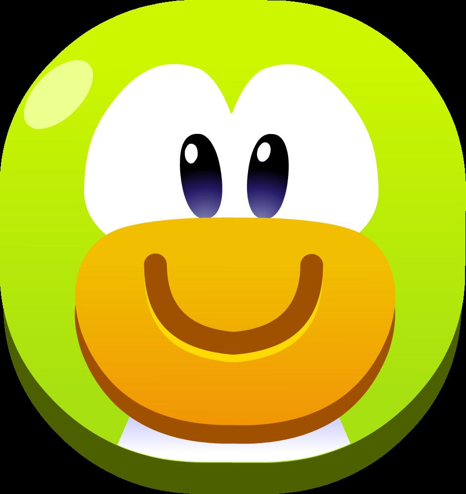 clip art download Smiling clipart smile emoji. Green club penguin island