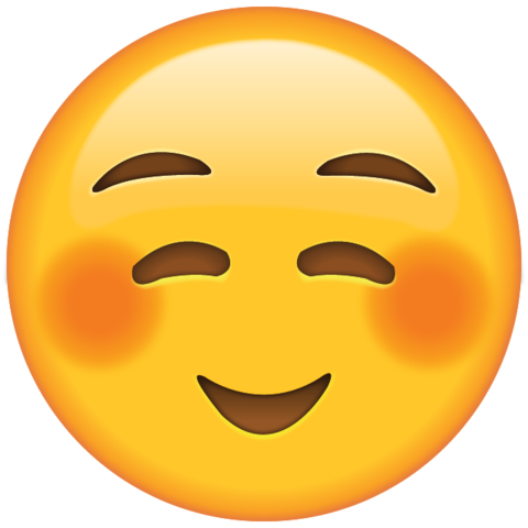 clip art freeuse stock Shyly face hayley s. Smiling clipart smile emoji
