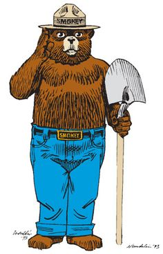 banner library Smokey the bear clipart.  best nc forest