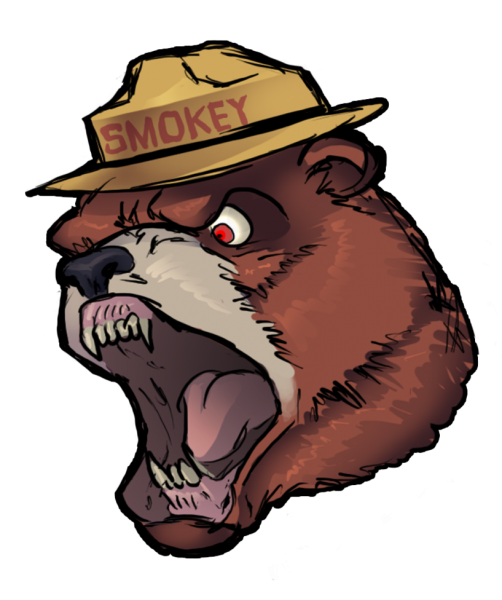 transparent Grizzly clip art transprent. Smokey the bear clipart