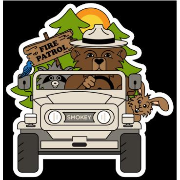 image transparent library Smokey the bear clipart. Sticker gzila designs