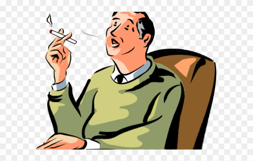 banner freeuse Man png download . Smoking clipart.