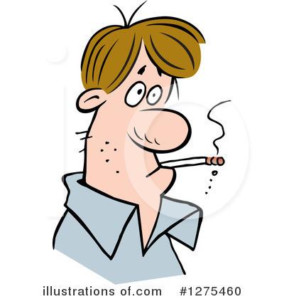 jpg black and white Illustration by johnny sajem. Smoking clipart.