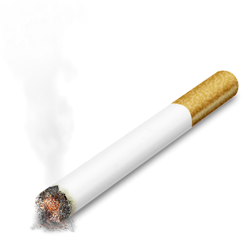 graphic black and white Smoking cigarette PNG image