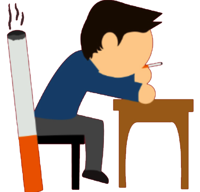 clip stock smoking clipart unhealthy lifestyle #49153332