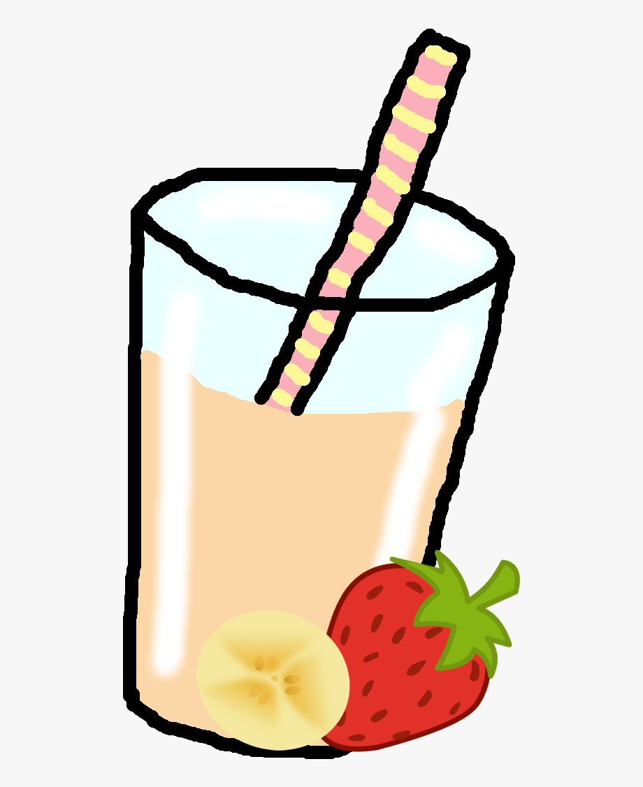 png black and white stock Smoothie clipart. Banana strawberry .