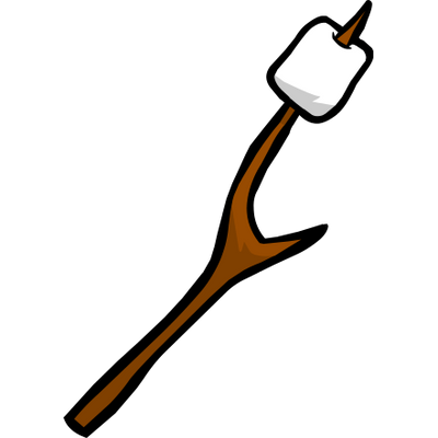 picture transparent library Marshmallow Stick Clipart transparent PNG