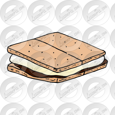clip black and white library Smores clipart. Picture for classroom therapy