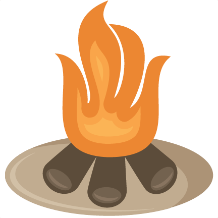svg black and white stock Free Campfire Images