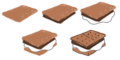 vector library stock s'mores drawing #87681982