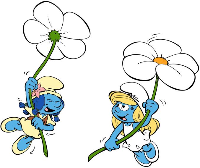 clip art smurfette drawing flower #103276570