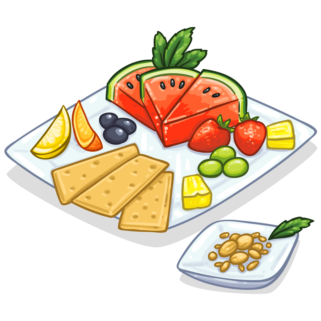 clipart black and white Item detail healthy itembrowser. Snacks clipart.