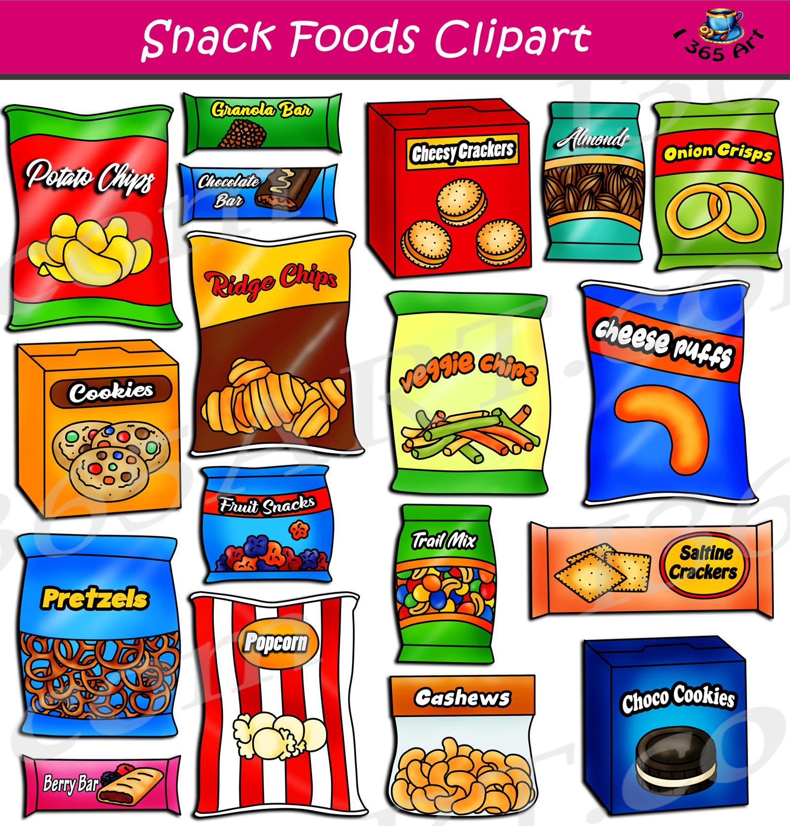 vector download Snack foods set download. Snacks clipart.
