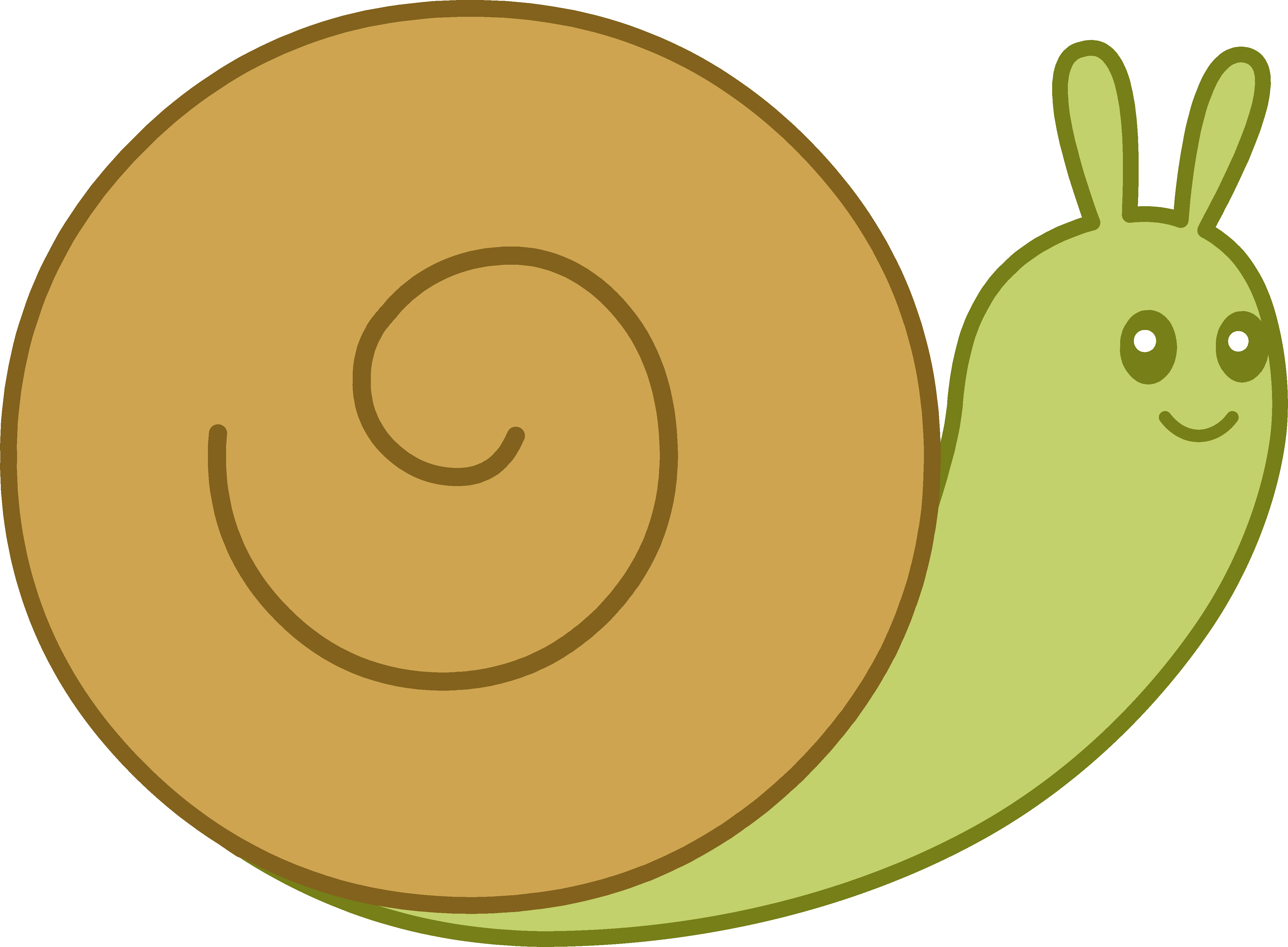 clip art free library Cute Brown and Green Snail
